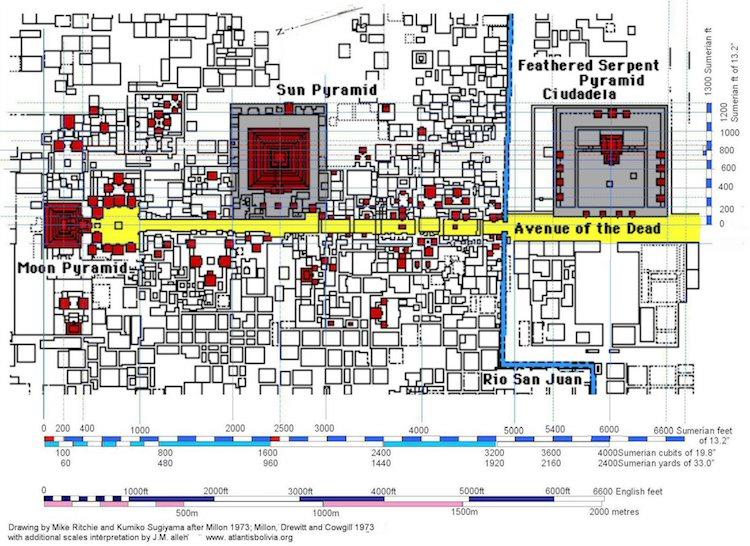 teotihuacan piramidi haritası